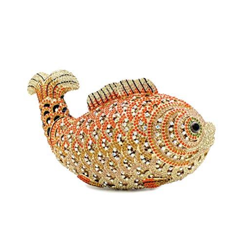 Signora Favorite Goldfish Strass Borse sera Wallet A