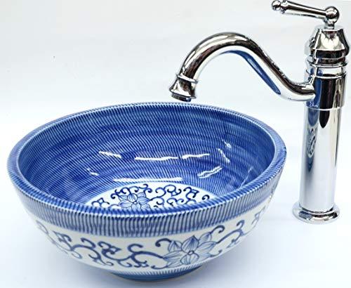 Floral Vintage Badezimmer Garderobe Keramik Counter Top Waschbecken Waschschüssel