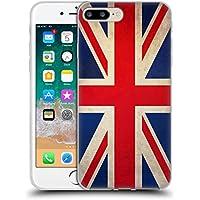Head Case Designs Gran Bretagna Inghilterra Bandiere Vintage Cover Morbida  in Gel per iPhone 7 Plus 550a8c049169