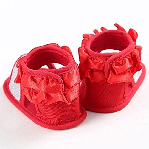 Gemini_mall , Baby Mädchen Lauflernschuhe Rot