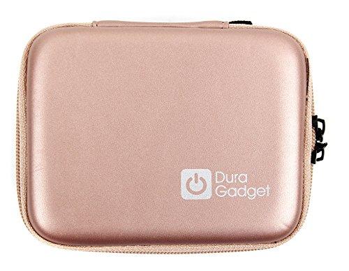 Handliches Hartschalen-Etui (Rosé-Bronze) der Marke DuraGadget für Ihren Polaroid POLMP01W - Fotodrucker und Polaroid Zip Handydrucker