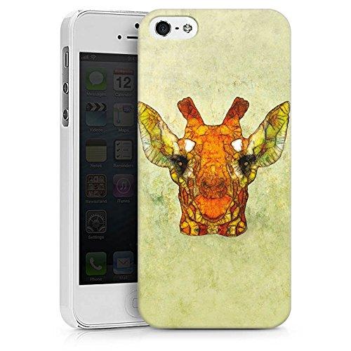 Apple iPhone X Silikon Hülle Case Schutzhülle Giraffe Muster Wasserfarbe Hard Case weiß