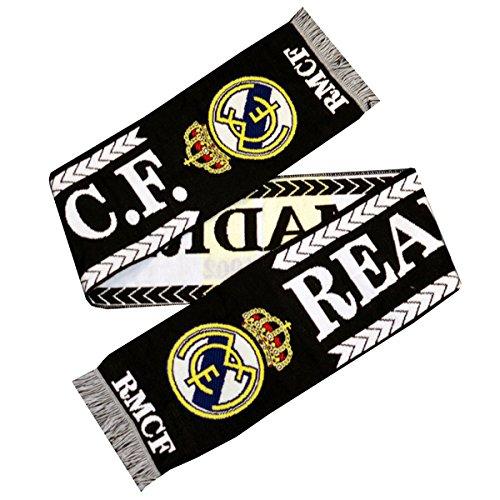 Oficial REAL MADRID CF Grande bufanda blanco y negro nuevo diseño