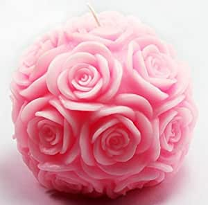 Wholeport Ball of Rose Candle Mold Silicone Soap Mold Candle Mould DIY Candle Making Mold