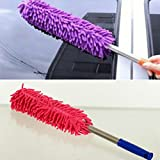 #8: Ketsaal Multipurpose Microfiber Cleaning Duster with EXTENDABLE Telescopic Wall Hanging Handle - For Household, cars, window, furniture, etc (Pack of 2)