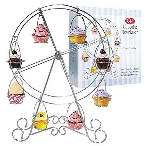 Cupcake Revolution - Soporte para 8 cupcakes, diseño de noria