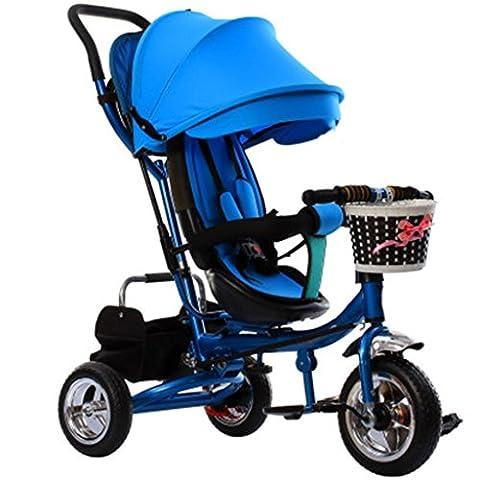 Enfant à l'intérieur de l'extérieur Petit vélo de bicyclette Vélo de fille à vélo pour 6 mois -6 ans Bébé Trois roues Chariot avec auvent, amortisseur / siège pliant / tournant / mousse ( Couleur : #1 )