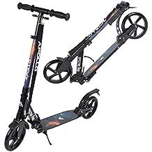 Apollo Big Wheel Scooter 200 mm - Spectre Pro galaxia es un city scooter de lujo con suspensión doble, city roller XXL plegable y ajustable en altura, grande kick+B3 scooter para adultos y niños