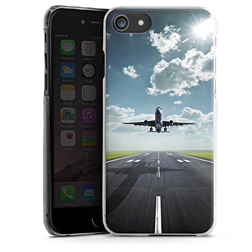 Apple iPhone SE Hülle Premium Case Cover Flugzeug Take Off fliegen Hard Case transparent
