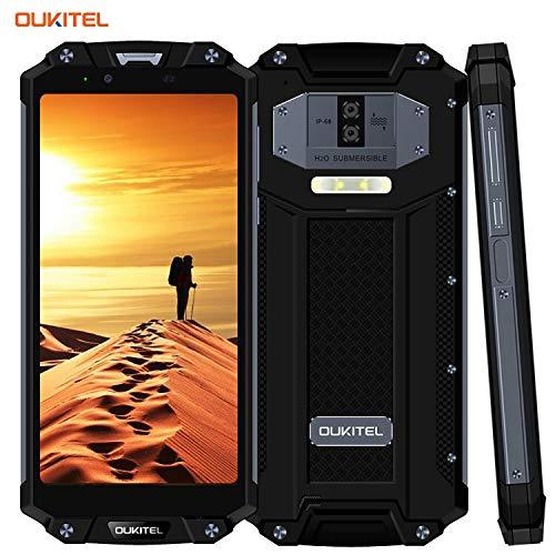 OUKITEL WP2-10000mAh Móvil Libre,4G Smartphone Rugged IP68 Impermeabile/antiurto/antipolvere,4GB + 64GB ROM,6 Pulgadas FHD+ Schermo,Fotocamera 16MP/2MP + 8MP,Android 8.0, NFC/GPS (Grigio)