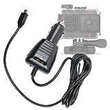 DURAGADGET Caricabatteria Auto MiniUSB per Garmin VIRB Ultra 30 Action Camera