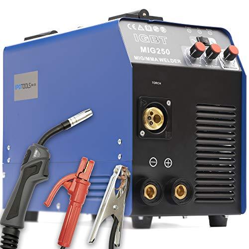 MIG-250 Inverter Schweißgerät MIG MAG Schweißgerät Schutzgas mit E-Hand IGBT 250 Amper 230V