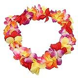 LnLyin Tropical Hawaiianische Blumenkette Partyzubehör Party Floral Leis für Kleid, Party Halskette Strand Zubehör, Textil, Multi, 114 cm