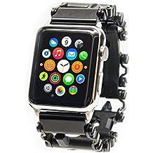 Reloj adaptador para Leatherman Tread Y Apple Watch Plata