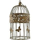 Jaula de pájaro jaula decorativa metal Shabby Oro Mariposa p de 103Talla L Nuevo