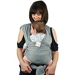 Fular Portabebés Original Natural Premium de Algodón | Manta Suave y Ligera Para Bebés Recién Nacidos e Infantes con Múltiples Posiciones