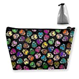 Travel Makeup Bag - Dead Sugar Skulls Makeup Pouch Toiletry Storage Clutch Organizer with Zipper for...