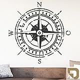 DESIGNSCAPE® Wandtattoo Himmelsrichtungen | Wandtattoo Kompass 90 x 90 cm (Breite x Höhe) hellbraun DW807374-M-F10