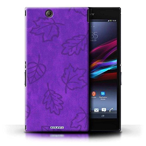 Kobalt® Imprimé Etui / Coque pour Sony Xperia Z Ultra / Rose conception / Série Motif Feuille/Effet Textile Pourpre
