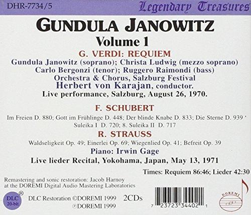 Verdi : Messa da Requiem - Schubert, R. Strauss : Lieders