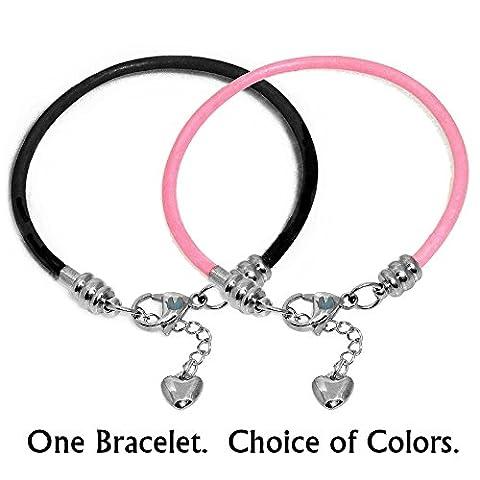 Chronologie Trésors en cuir véritable en acier inoxydable européenne Charme Bracelet Pandora–Rose griffe, Rose, 19 cm (7.5 Inch)