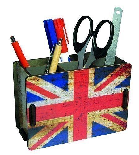 Porta penne legno bandiera Inglese