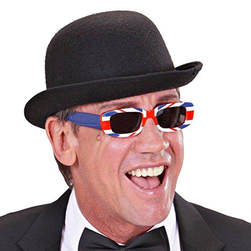 NET TOYS Retro Brille England Sonnenbrille Union Jack Partybrille UK Fußball Fanbrille WM EM