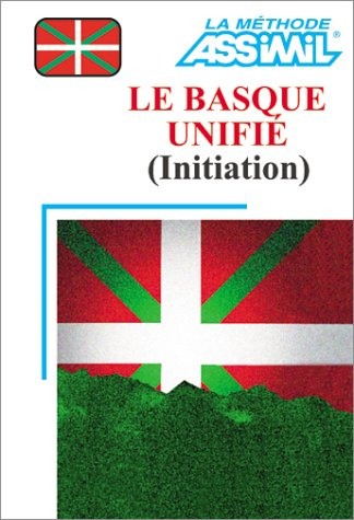 Le Basque unifié : Initiation (1 livre + coffret de 4 cassettes) par Assimil - Collection Langues Régionales