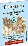 Fahrkarten der Deutschen Reichsbahn 1958–1959: Ausgabeort Bahnhof Georgenthal/Thür. u.a. mit Schaffner-Lochzangen und 200 Lochzeichen. Mit Lochzeichenlexikon