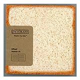 Daycraft N76 411-00 - Bread Notizbuch, Brot Deckenband, Tintenstrahlbedruckte Ränder, weiß