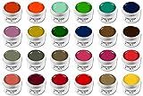 RM Beautynails Colorgel Farbgel Gel - Set 24x 5ml Pink Rot Blau Rosa Violett Grün Grau Gelb Lila