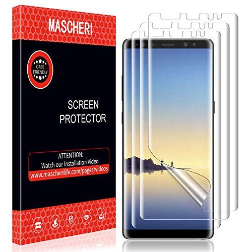 MASCHERI Schutzfolie für Samsung Galaxy Note 8, [3 Stücke] Nass-Installation [Blasenfreie] Bildschirmschutz Bildschirmschutzfolie für Samsung Galaxy Note 8