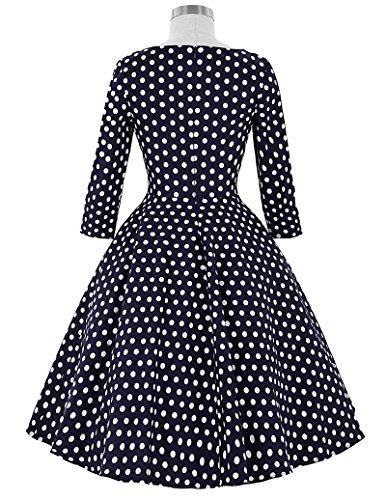 Vintage 1950er Floral Pattern Festliche Kleid Mehrer Farbe Partykleid BP41-3