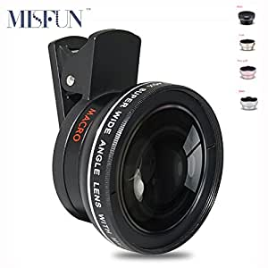Generic Gold : 2 in1 Mobile Phone HD Camera Lens 0. 45x Super Wide Angle + Macro Lens for iPhone 5s 6 7 Ipad Samsung S7 IOS Android Professional