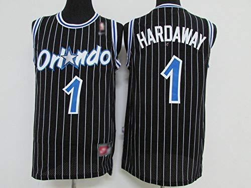 Herren Basketball Trikots, NBA-ORL Orlando Magic Anfernee Hardaway # 1 Basketballuniform Retro Tank Top Atmungsaktives Sweatshirt Ärmelloses T-Shirt,L(175~180) cm