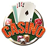 I-love-Wandtattoo CE Sticker mural de 10713 logement Sticker mural Inscription Casino Poker avec cartes Jeu de Poker, jetons de poker et dés poker Motif à coller Casino Poker Lounge Sticker Sticker mural Poker Club Stickers Décoration Murale - 40 x 40 cm