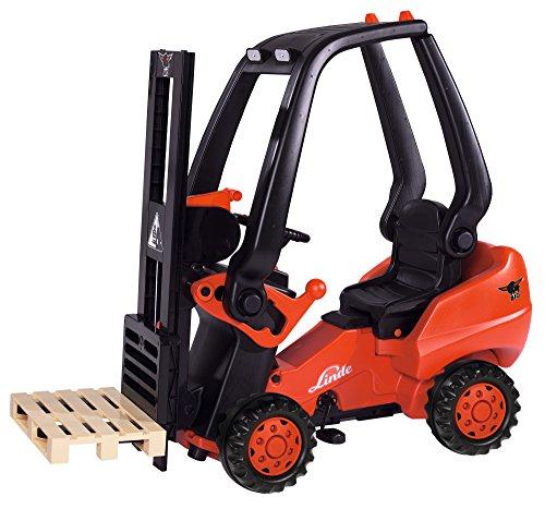 BIG 800056580 - Linde Forklift Kindergabelstapler, rot -