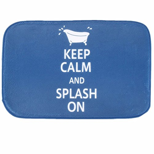 O-C slogan blue Outdoor Indoor Antiskid Absorbent Bedroom Livingroom Bath Mat Bathroom Shower Rugs Doormats