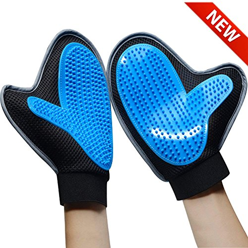 Mitt Brush Mitt for Pets, Hair Removal for Soft and Efficient Cleaning of Pets, Massage Apparatus for Pets with Long and Short Hair, Dogs, Cats, Rabbit etc. (Two units)