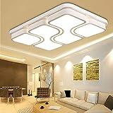 MYHOO 78W Modern Design LED Deckenlampe Deckenleuchte Wohnzimmer Lampe Schlafzimmer Küche Leuchte Warmweiß(3000-6500K)[Energieklasse A++]
