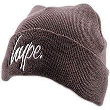 Bonnet à Revers Hype Script Marron et Blanc - Mixte