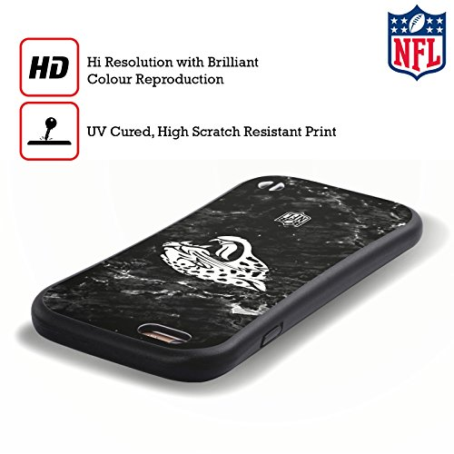 Ufficiale NFL Marmo 2017/18 Jacksonville Jaguars Case Ibrida per Apple iPhone 5 / 5s / SE Marmo