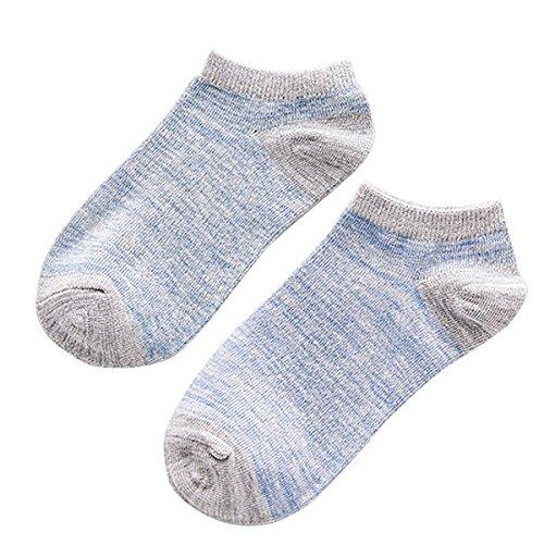 TININNA Lot de 5 paires Chaussettes 100% Coton Basse Socquettes Sport Pour Femmes Fille Gris