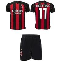 3R SPORT SRL Completo Ibrahimovic Milan Ufficiale 2020-21 Nr.11 Bambino Uomo Adulto Replica Autorizzata Zlatan Maglia…
