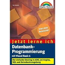 Datenbankprogrammierung mit Visual Basic 6 - Jetzt lerne ich... . Alles Wichtige zu ADO, Jet-Engine, SQL und Datenumgebung