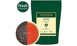 Assam Black Tea Leaves (200+ Cups), STRONG, MALTY & RICH, Loose Leaf Tea, 100% Pure Unblended, Single Origin Black Tea Loose Leaf, Brew Hot Tea, Iced Tea, Kombucha Tea, FTGFOP1 Long Leaf Grade, 454gm