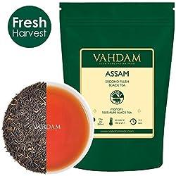 VAHDAM® Assam Loose Leaf (Lose Blätter) Tee (225 Tassen), Stark & Malzig, Schwarzer Second Flush Sommer Tee, 100% Zertifiziert, Rein & Unverschnitten. Direkt aus Indien, 454g
