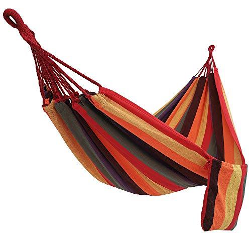 A-Qnice Camping-Hängematte Ultraleichtes, tragbares Schaukelbett Atmungsaktiver Nylon-Fallschirm für bis zu 300 kg, für Reisen Backpacking Camping Jagd Beach Yard