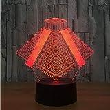Pyramide In Mexiko Licht 7 Farben Ändern Lampe Usb Nacht Nachttisch Schlafzimmer Nachtlicht Schlafzimmer Dekor Geschenke 3D Licht Led Nachtlicht