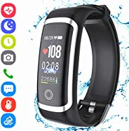 Janker Fitness Tracker, Activity Smart Bracelet Wristband With Pedometer Heart Rate Sleep Monitor Calories Sto